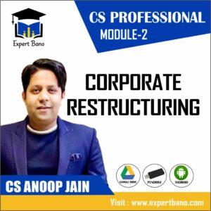 CS PROFESSIONAL MODULE 2 CORPORATE RESTRUCTURING BY CS ANOOP JAIN