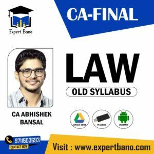 CA FINAL LAW OLD SYLLABUS BY CA ABHISHEK BANSAL