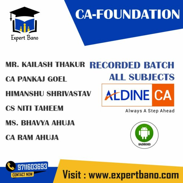 CA FOUNDATION ALL SUBJECTS RECORDED BATCH