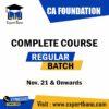 CA FOUNDATION COMPLETE COURSE