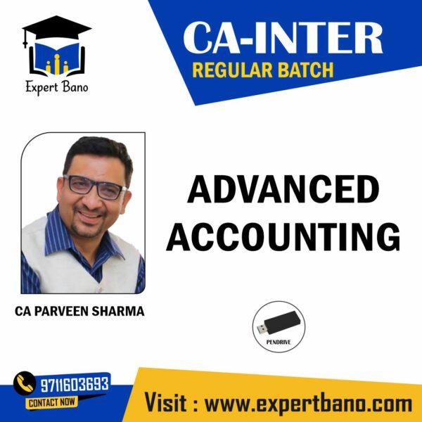CA INTER ADVANCE ACCOUNTS PENDRIVE CLASSES BY CA PARVEEN SHARMA