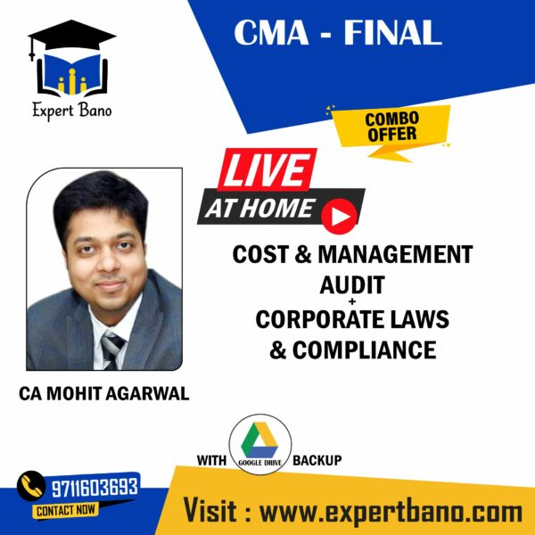 CMA FINAL COST + LAWS BY CA MOHIT AGARAWL