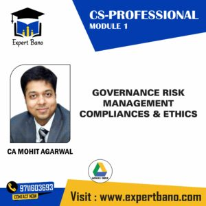 CS PROFESSIONAL GOVERNANCE BY CA MOHIT AGARWAL