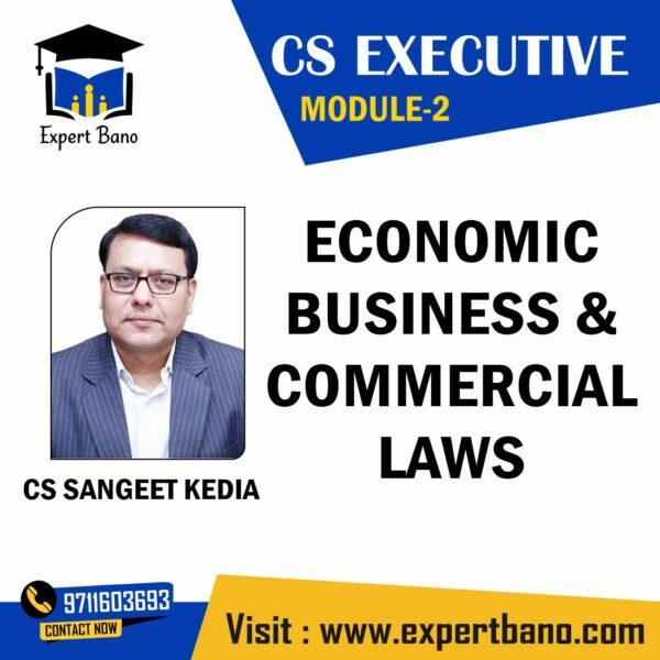 CS EXECUTIVE MODULE 2 ECONOMIC BUSINESS & COMMERCIAL LAWS BY CS SANGEET KEDIA