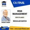 CA Final- Risk Management – Regular Batch (New Syllabus) By Sanjay Saraf