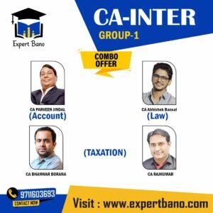 CA Inter (Group 1)- Accounts, Law & Taxation (COMBO) BY BHANWAR BORANA CLASSES