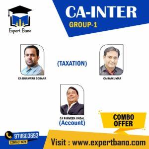 CA Inter (Group 1)- Accounts & Taxation (Combo) By Bhanwar Borana Classes