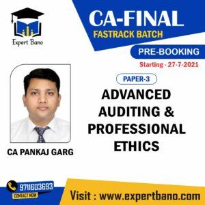 ca final audit fast track prebooking ca PANKAJ GARGA
