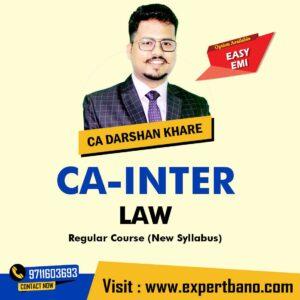 1 CA Inter LAW Regular Course By CA Rahul Garg