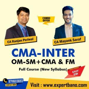 10 CMA Inter CMA and FM By CA Ranjan Periwal and OM-SM By CA Mayank Saraf COMBO