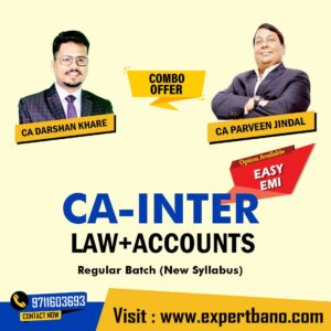 12 CA INTER LAW+ACCOUNTS COMBO BY CA DARSHAN KHARE & CA PARVEEN JINDAL