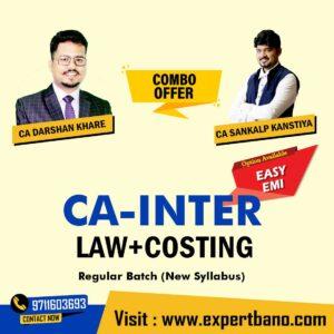 13 CA INTER LAW+COSTING COMBO BY CA DARSHAN KHARE & CA SANKALP KANSHTYA