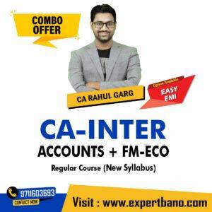 16 CA INTER ACCOUNTS + FM-ECO REGULAR CA RAHUL GARG
