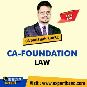 17 CA FOUNDATION LAW + BCR BY CA DARSHAN KHARE