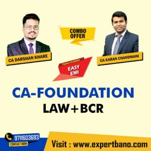 18 CA FOUNDATION LAW + BCR BY CA DARSHAN KHARE