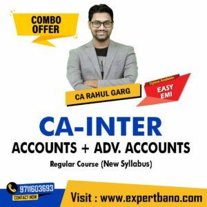 18 CA INTER ACCOUNTS + ADV. ACCOUNTS REGULAR CA RAHUL GARG