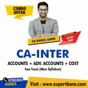 26 CA INTER ACCOUNTS + ADV. ACCOUNTS + COST FAST TRACK CA RAHUL GARG