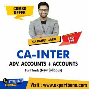 28 CA INTER ADV. ACCOUNTS + ACCOUNTS FAST TRACK CA RAHUL GARG