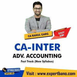 4 CA INTER ADV. ACCOUNTING FAST TRACK CA RAHUL GARG