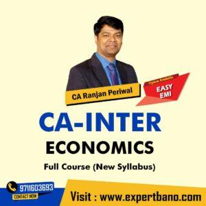 5 CA Inter Economics By CA Ranjan Periwal