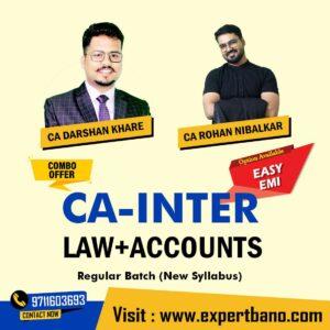 8 CA INTER LAW+ACCOUNTS COMBO BY CA DARSHAN KHARE & CA ROHAN NIBLAKAR