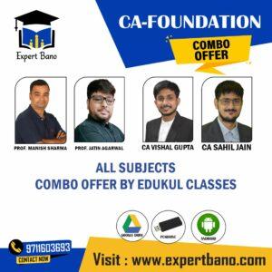 CA FOUNDATION COMBO BY EDUKUL CLASSES