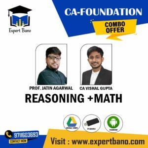 CA FOUNDATION EDUKUL CLASSES REASONING +MATH BY PROF JATIN AGARWAL & CA VISHAL GUPTA