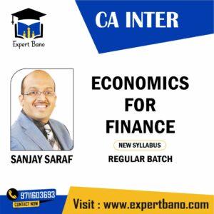 CA INTER ECONOMICS FOR FINANCE BY SANJAY SARAF