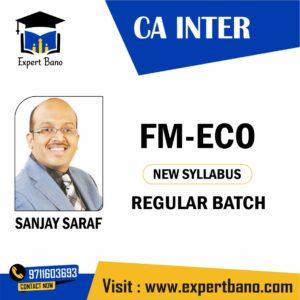 CA INTER FM-ECO BY SANJAY SARAF
