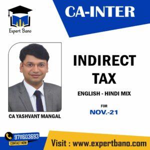 CA INTER IDT CA YASHVANT MANGAL