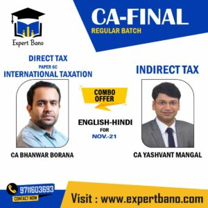 DIRECT TAX INDIRECT TAX REGULAR CA YASHVANT MANGAL CA BHANWAR BORANA